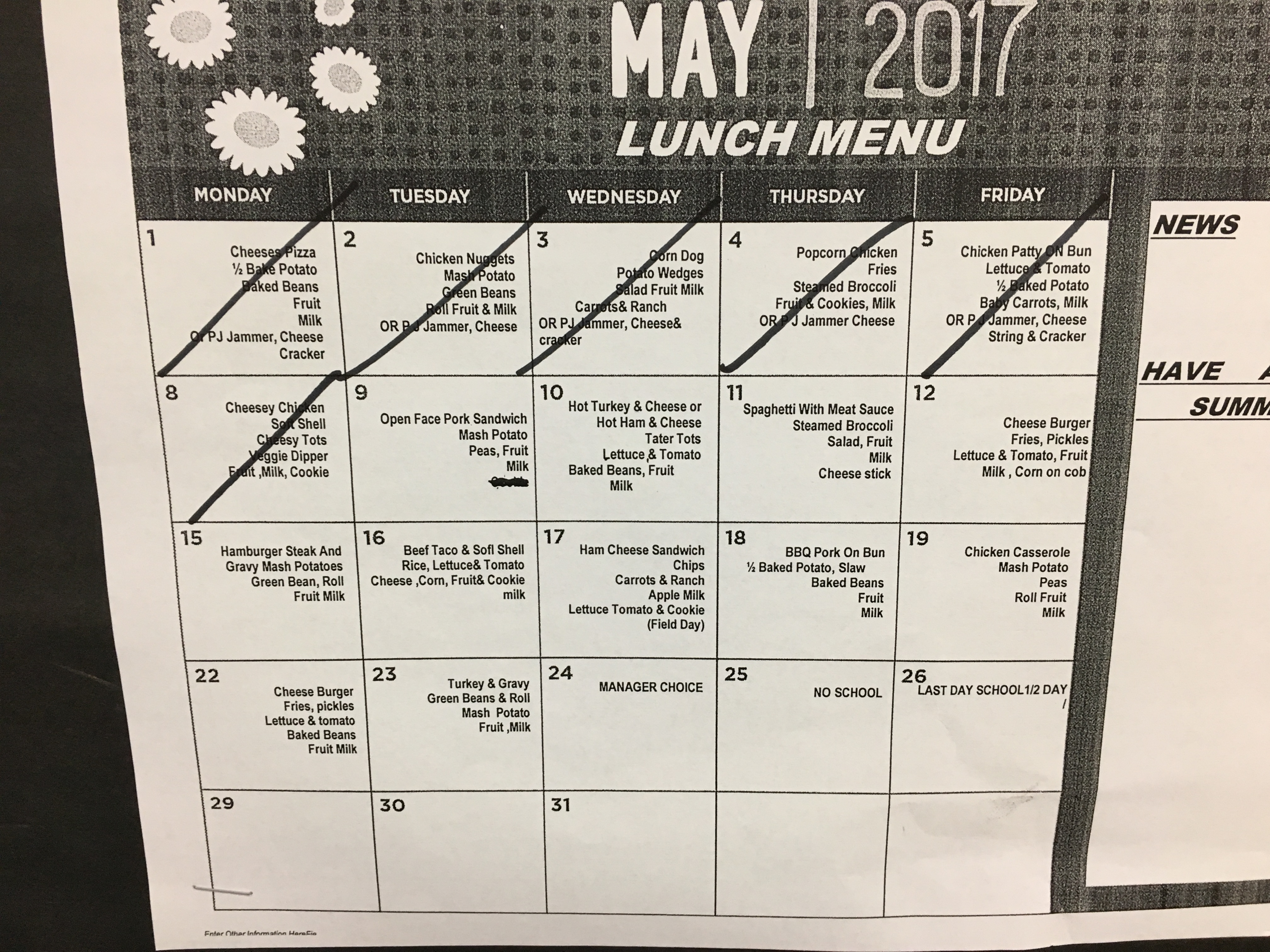 MAY LUNCH